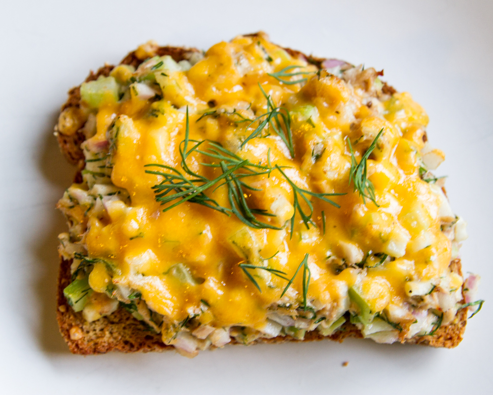 This Mostly Veggie Tuna Melt will never go out of style. Ode to a classic!
