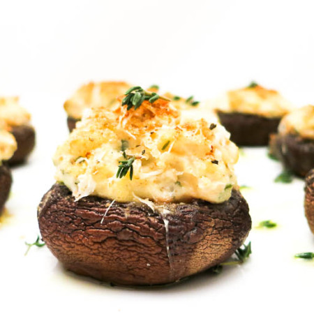 Stuffed Mushrooms with Chestnuts & Boursin