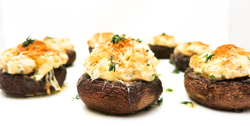 Stuffed Mushrooms with Chestnuts & Boursin are a welcomed vegetarian option at any party.