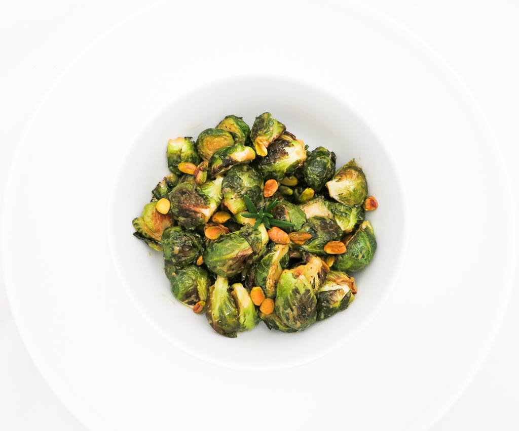 Roasted Brussels Sprouts with Mustard and Maple Glaze is the perfect vegetarian side dish to serve during the holidays!